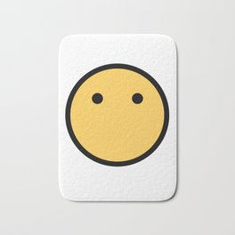 Smiley Face   No Mouth Only Eyes Bath Mat