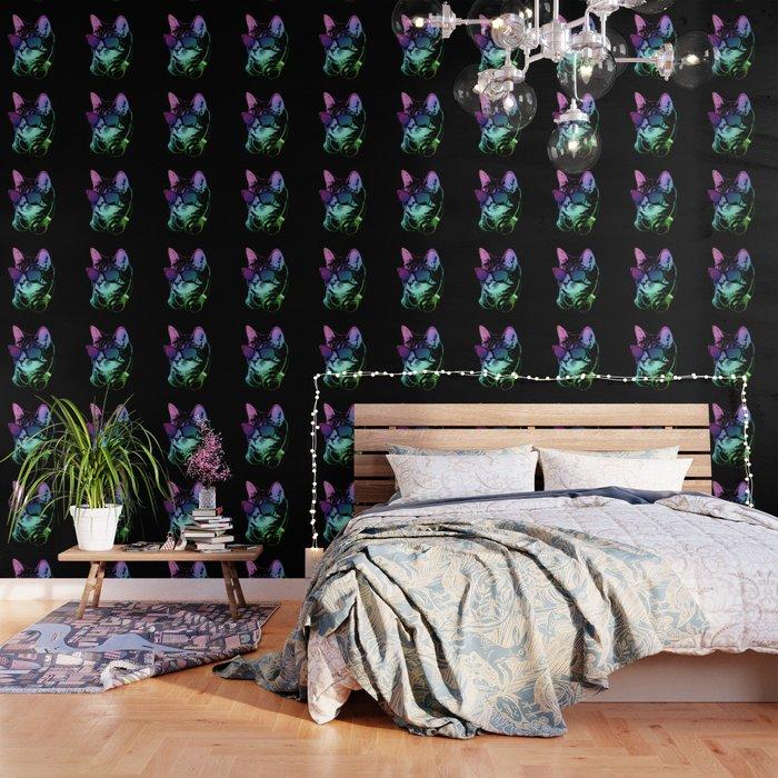 Dj Cat In Neon Lights Wallpaper By Jacopaco
