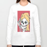 skeleton Long Sleeve T-shirts featuring Skeleton by NathanJoyce