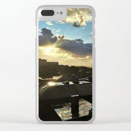 Sun Shower in Portland, Maine (4) Clear iPhone Case