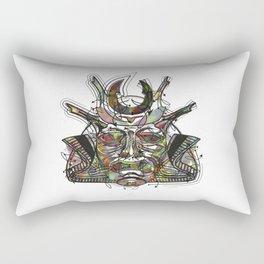 """Samurai 3. (Samurai mask """"C"""" big and 4 small masks) Rectangular Pillow"""