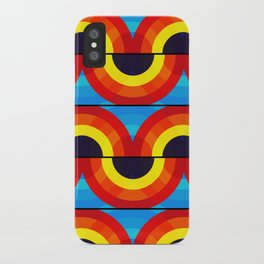 Groovy Waves Pattern iPhone Case