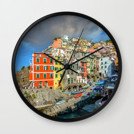 Cinque Terre, Italy (Houses on the Cliff) Wall Clock