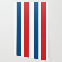 McQueen – Red and Blue Stripes Wallpaper