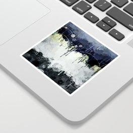 Modern Indigo Eclipse Abstract Design Sticker
