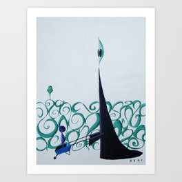 It would be Quicker to Walk into the Afterlife, but Tradition is Tradition.   Art Print