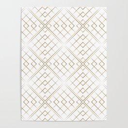 Gold geometric pattern Poster
