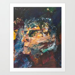 Old Man with Sunglasses Art Print
