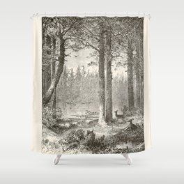 Forest Scene Shower Curtain