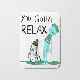 Mr. Meeseeks Quote T-shirt - You Gotta Relax - White Bath Mat
