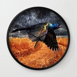 Wild Blackbird Wall Clock