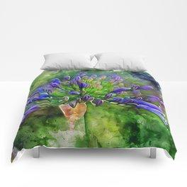 Agapanthus Flower Comforters