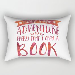 I Start a New Adventure Every Time I Open A Book Watercolour (V2) Rectangular Pillow