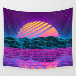 Vaporwave Sunset Wall Tapestry