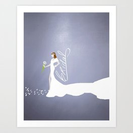 Here Comes The Bride! Art Print