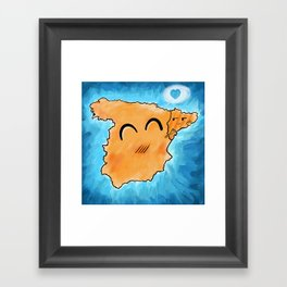 Spain loves Catalonia Framed Art Print