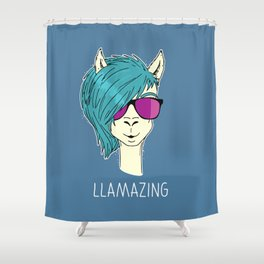 LLAMAZING llama Shower Curtain