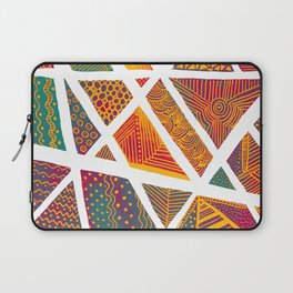 Geometric doodle pattern - multicolor Laptop Sleeve