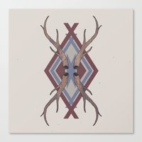 antlers Canvas Prints featuring Antlers by Ben Bauchau