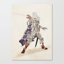 The White Falcon Canvas Print