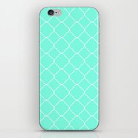 moroccan iPhone & iPod Skins featuring Mint Moroccan by Beautiful Homes