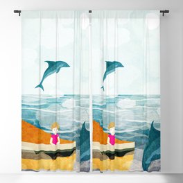 When dolphins are around 1 Blackout Curtain