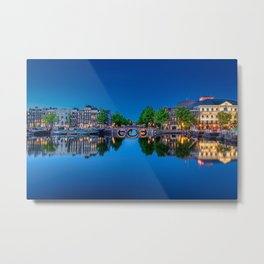 Amstel river in Amsterdam Metal Print