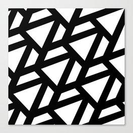Rhombus BW Canvas Print