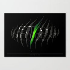 Stay Different Canvas Print