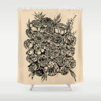 wedding Shower Curtains featuring Wedding Flowers  by Felicia Cirstea