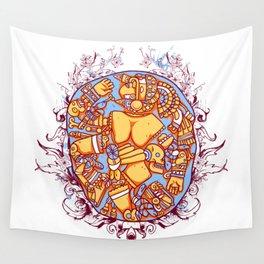Inca design - Mayan Pinup Simbols Wall Tapestry