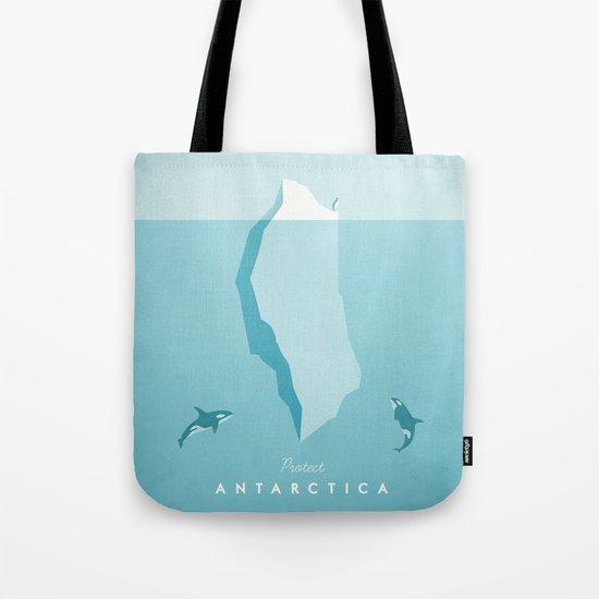 Vintage Travel Poster: Antarctica Tote Bag