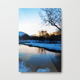 Blarmacfoldach, Scotland in the snow Metal Print