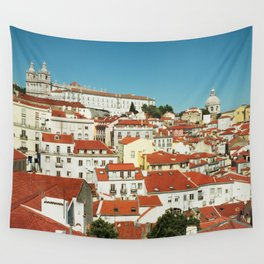 Lisbon view, Portugal Analog 6x6 Kodal Ektar 100 (RR 166) Wall Tapestry