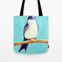 swallow Tote Bags featuring Swallow by Pincay