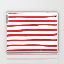 Red hand drawn stripes Laptop & iPad Skin