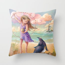 Z imagination Felicity and Fritz, Orphic Wanderers Throw Pillow
