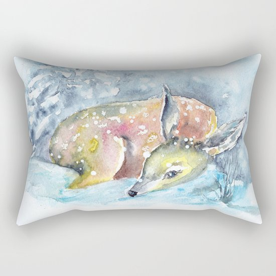 Winter animal #14 Rectangular Pillow