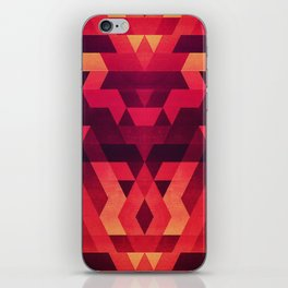 Abstract  geometric triangle texture pattern design in diabolic future red iPhone Skin