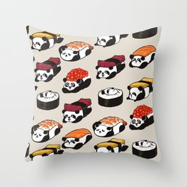 Sushi Panda Throw Pillow