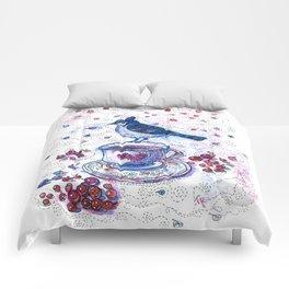 Winter Tea (Ble Jay) Comforters