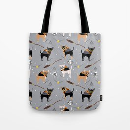 chihuahua witch wizard magical dog breed gifts Tote Bag