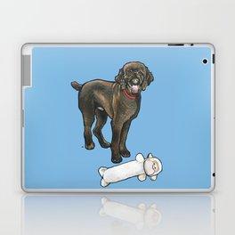 Milo the Poodle with his Monkey Laptop & iPad Skin