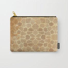 Vintage Giraffe Print (Color) Carry-All Pouch