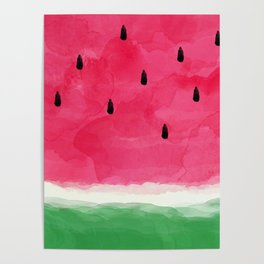 Watermelon Abstract Poster