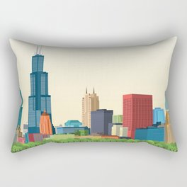 City Chicago Rectangular Pillow