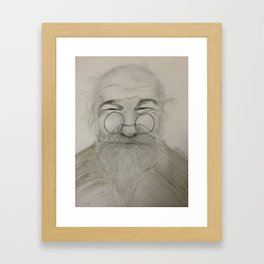 Happy Grandpa Framed Art Print