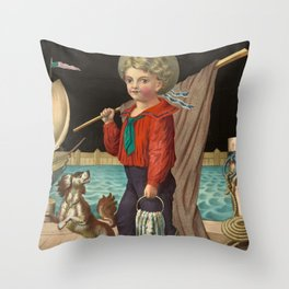 The pride of the harbor, 1874 Throw Pillow