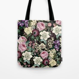 Vintage  & Shabby Chic - Mystical Night Flower Dance Tote Bag