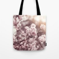 blush Tote Bags featuring Blush by Jamesy (happypastel)